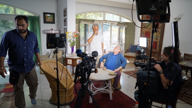 Dany Cohn-Bendit tournage